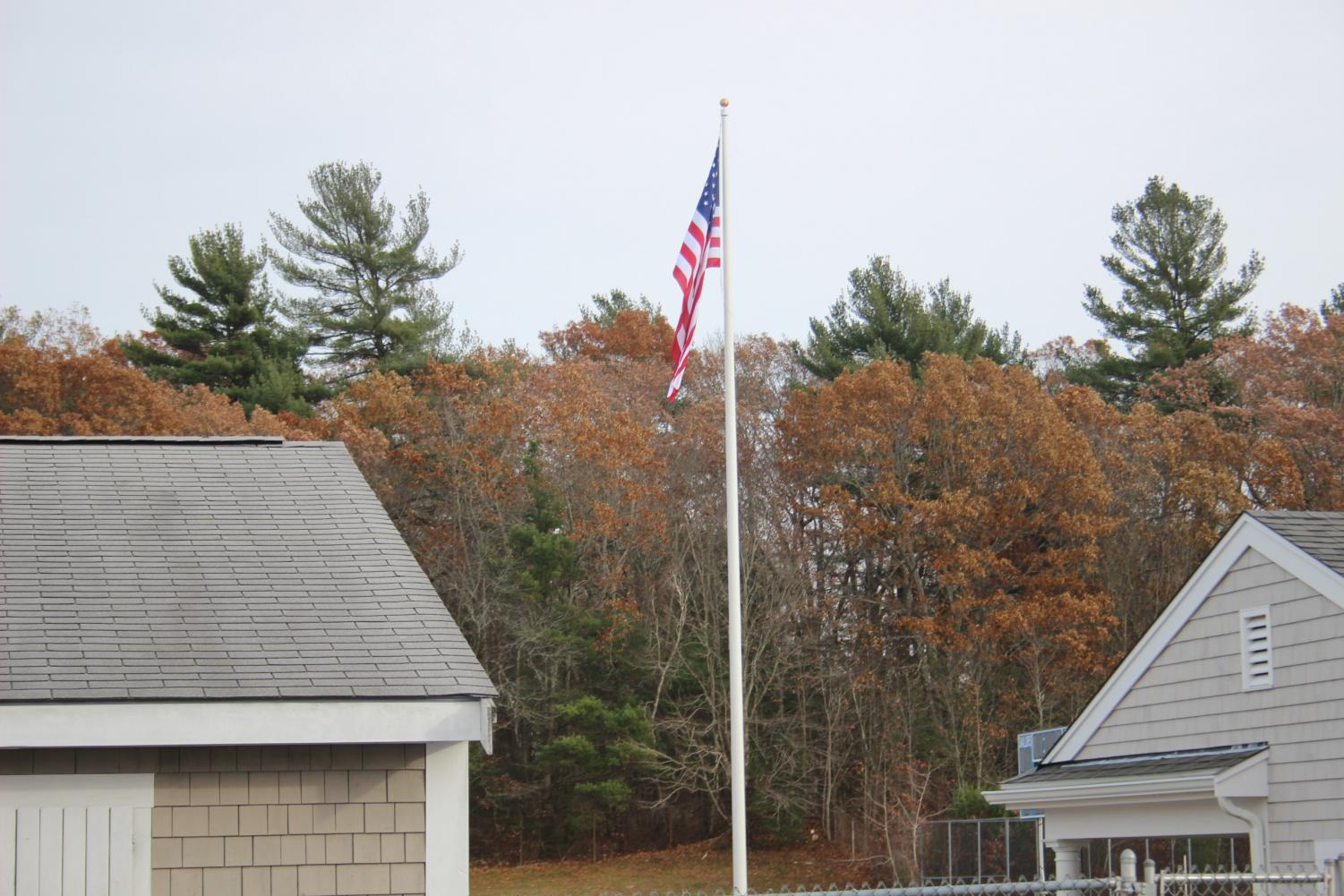 A new flagpole was recently donated to SHS