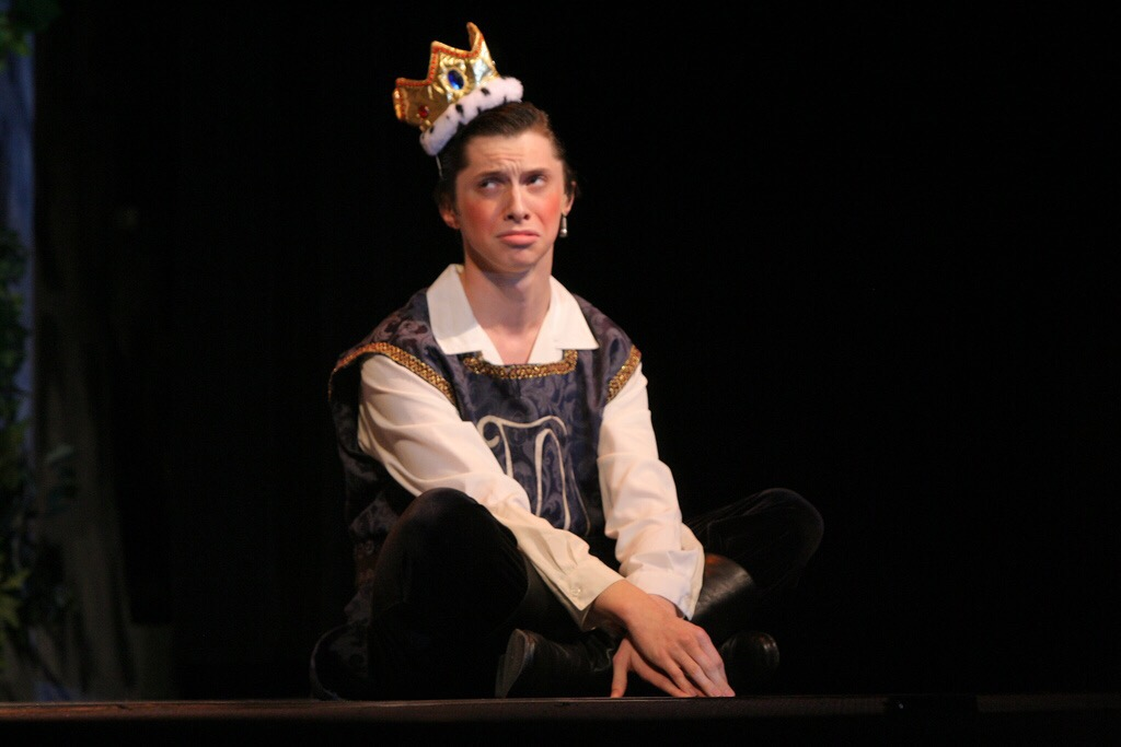 Roger Dawley during his SHS performance of Once Upon a Mattress