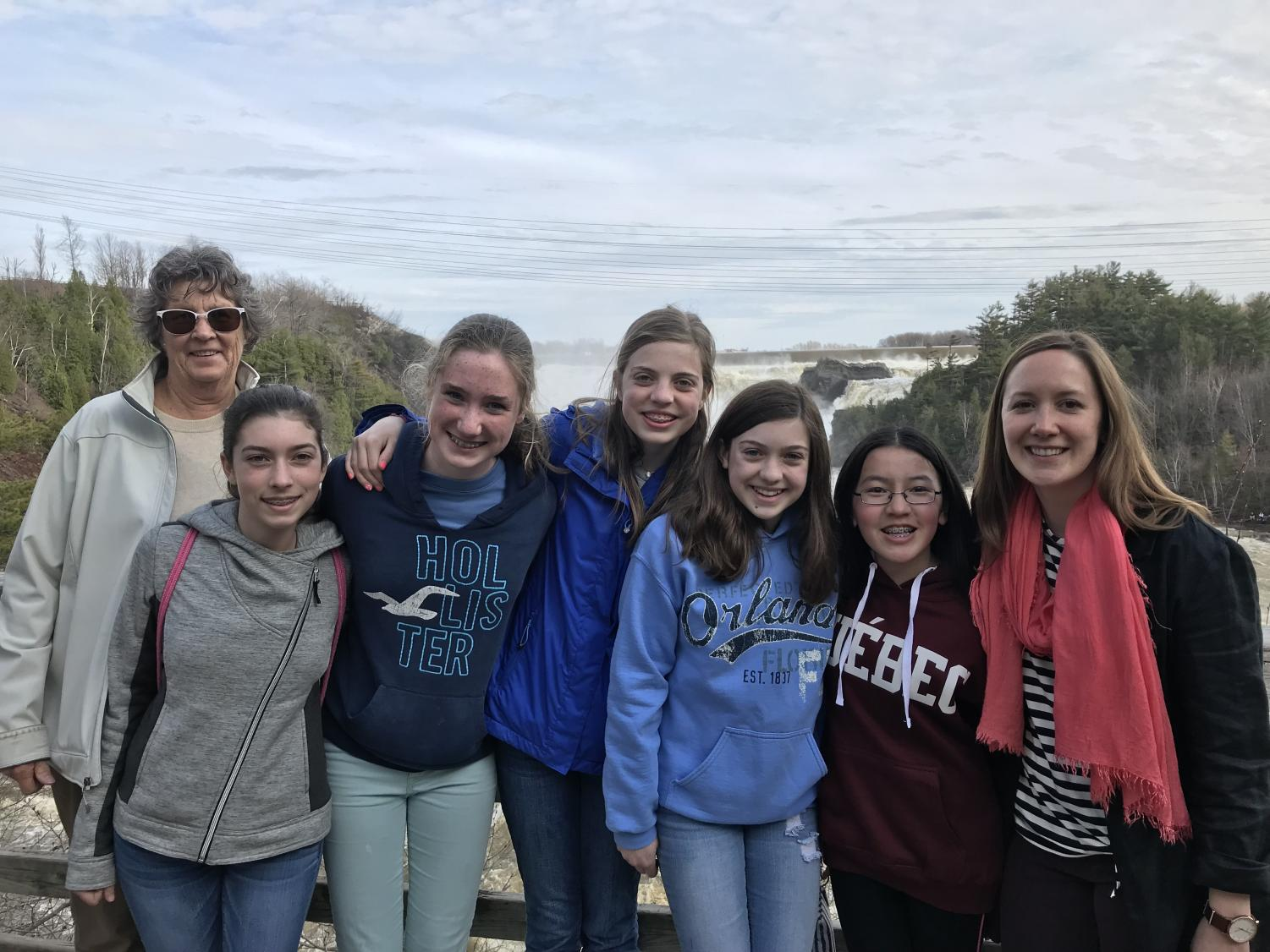 Middle school students studying French visited Quebec City