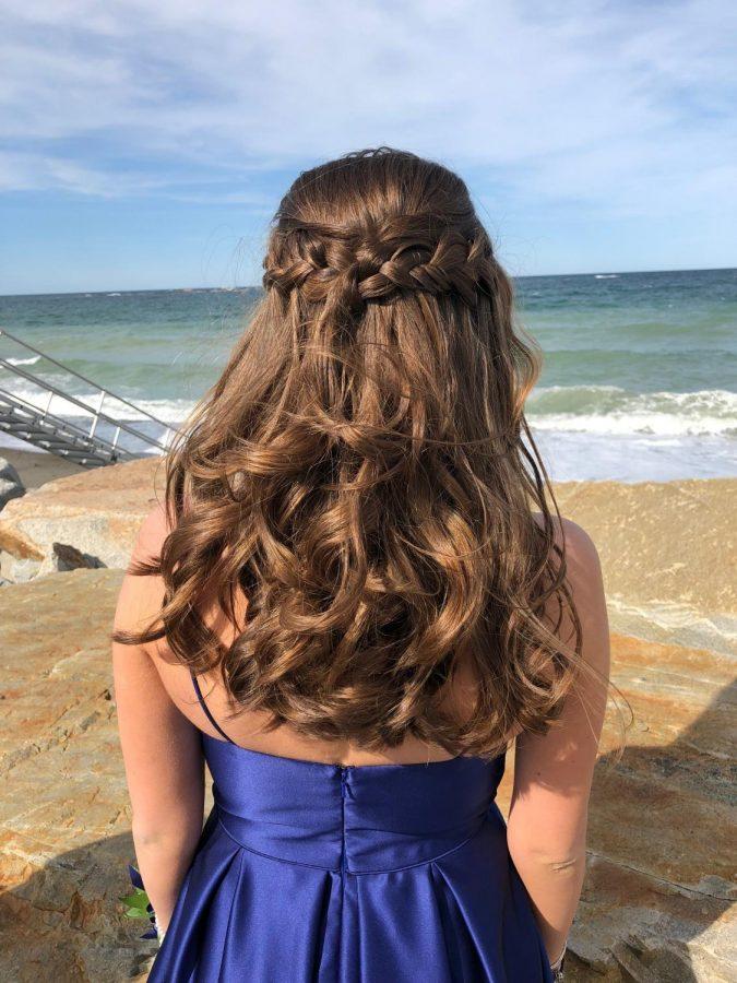 Senior Kat English Hair Styled at Salon Taj Prom 2018