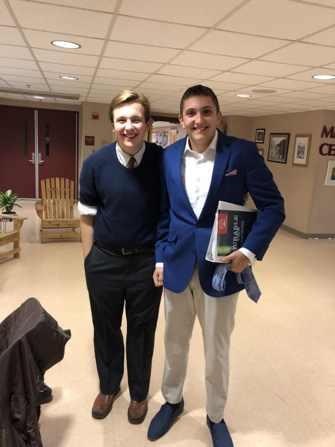 Juniors Taylor Lunt and Jack Williams participated in two debates. They prevailed in their second debate, which focused on US immigration policy.