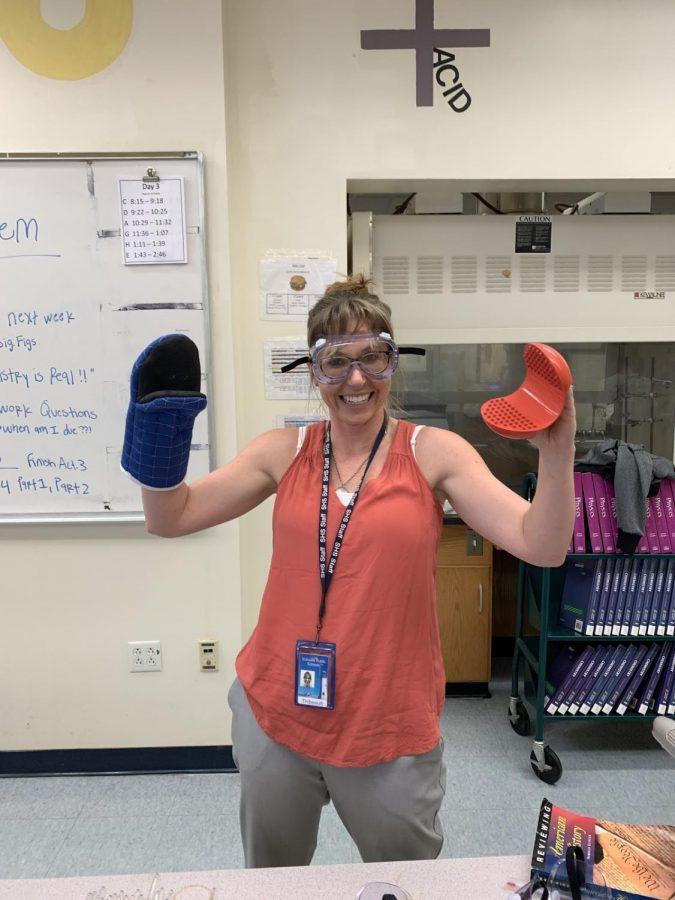 Cassie+Thibault+is+in+her+element+in+her+chemistry+class