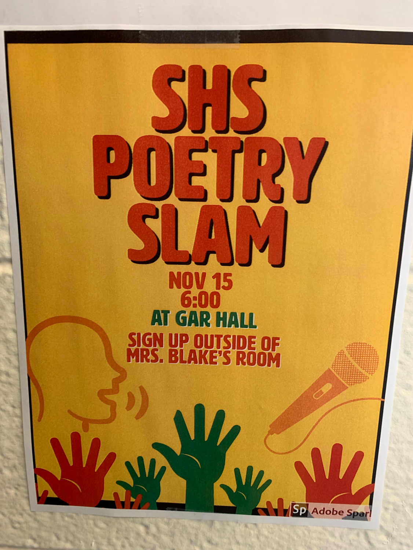 Slam at poem on Nov. 15th