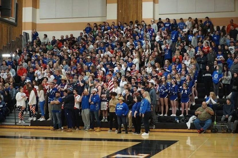 SHS+Class+of+2020+shares+their+Sailor+spirit+during+a+playoff+basketball+game