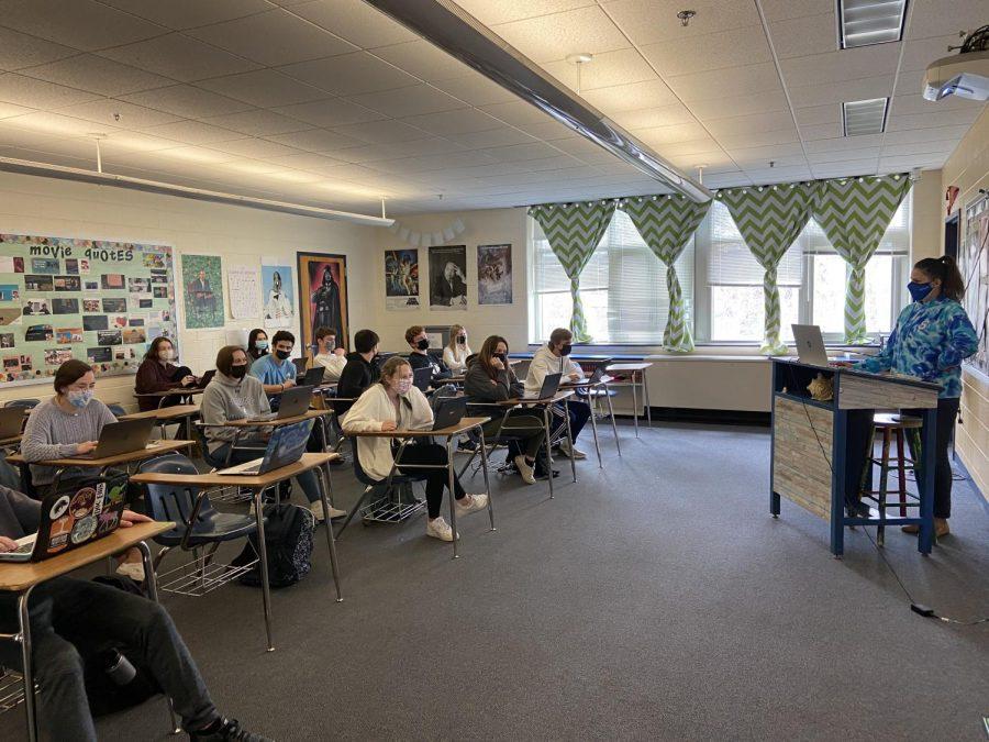 Anne Blake teaching her students