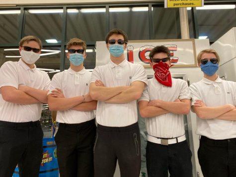 Pictured from left to right: senior Paul Hofmeister, sophomore Reid Fulton, senior Ben Sturdy, senior Luke Tempesta, junior Frankie Minich