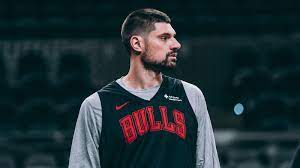 Nikola Vucevic suits up with the Chicago Bulls