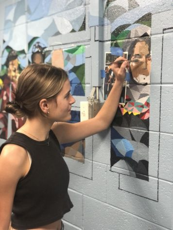 Sydnie Marshall has enjoyed the process of creating a mural at SHS